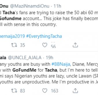 BBNaija vs Tacha: We deserve something worse than this Government! – Angry Nigerians React. (See reasons via tweets).