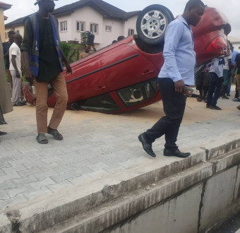 Update: Staff suffered accident with client's car in lekki, Lagos.