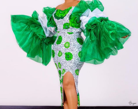 9ja 59′ Actress Mercy Aigbe Stuns New Outfit To Celebrate Nigeria. (Photo)