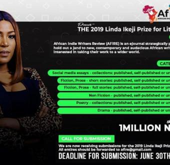 The 2019 N1m AFIRE Linda Ikeji Prize for Literature Longlist Announced