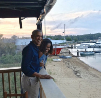 Michelle showers Barrack Obama with love as they celebrate 27th wedding anniversary.