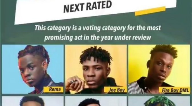 Headies Next Rated: Who do you think deserve it more. Zlatan, Rema, Victor AD, Joe boy, Fireboy?