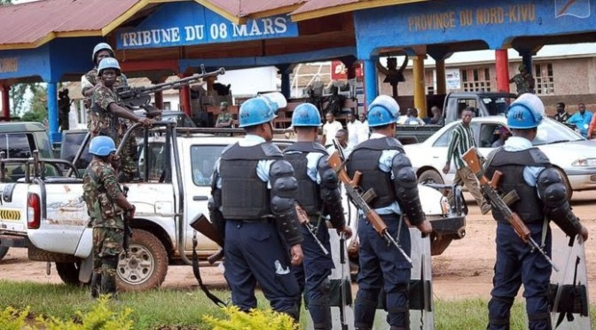 After Deadly Attack.. Group Parade UN Base In DRC, Burnt Down Place In Beni…