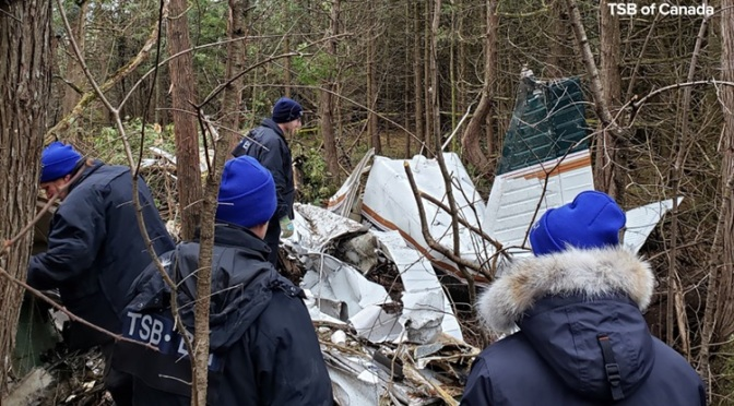 Canada – Seven lost their existence in US plane crash.