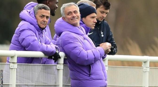 Jose Mourinho stays at the training ground over night to prepare Tottenham for Burnley.