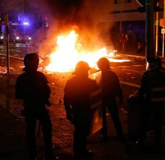 9 people arrested after El clasico clash turns war.