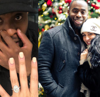 Ex Nigerian Player, Ogbonnaya Is Engaged, Proposed to girlfriend. (photos)