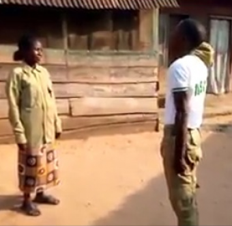 This is what corps member did to his poor mum as he return home.