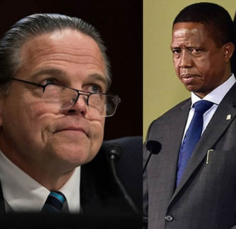 U.S president criticized the imprisonment of a gay couple in Zambia.