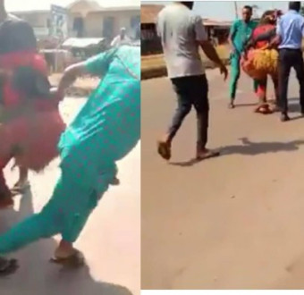 (Video) Alleged Masquerade Arrested In Anambra State.