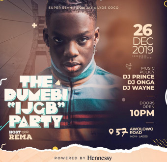 """Rema host THE DUMEBI """"IJGB"""" PARTY to make December get more Detty."""