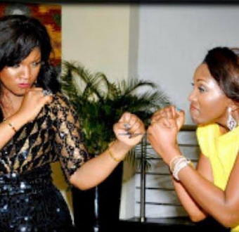 Omotola Jalade discard rumour that she and Genevieve are enemies.