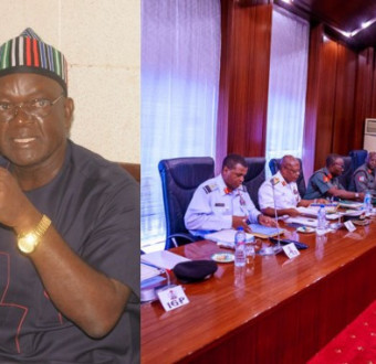 Samuel Ortom cries as military withdraws fight with insurgents, police to take over.