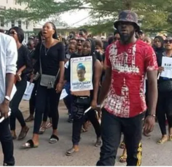 Students from LASU fully charged to fight for justice over murder of mate.