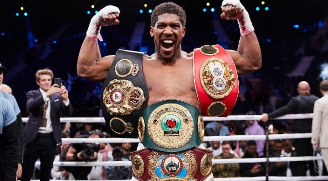 Anthony Joshua Set To Present Belts To President Buhari – Sports Minister, Sunday Dare.