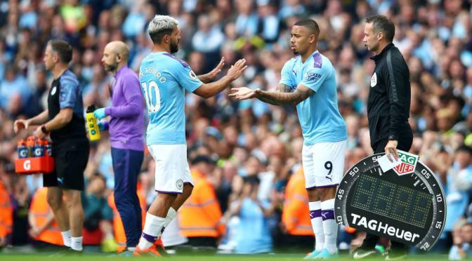 Gabriel jesus decides to finally remove Agüero as man city's main striker.