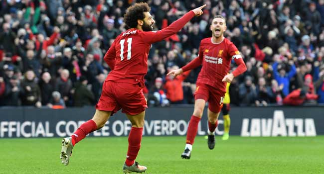 Salah Takes Liverpool Into Premier League Victory.