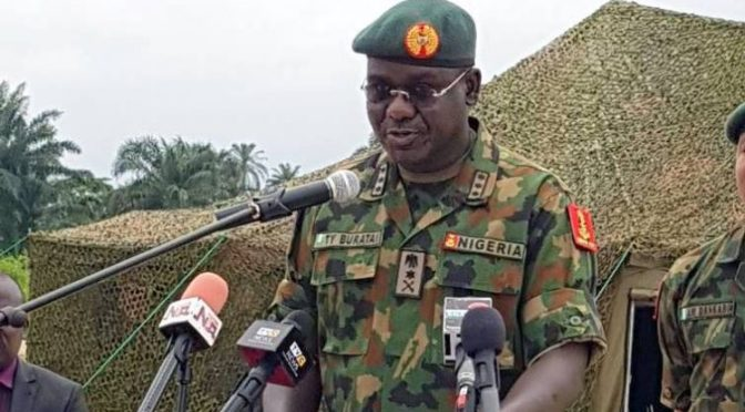 Get terrorists in confusion – Buratai tasks troops, OPLD.